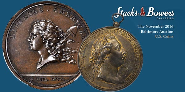 Stack's Bowers November 2016 Whitman Baltimore auction