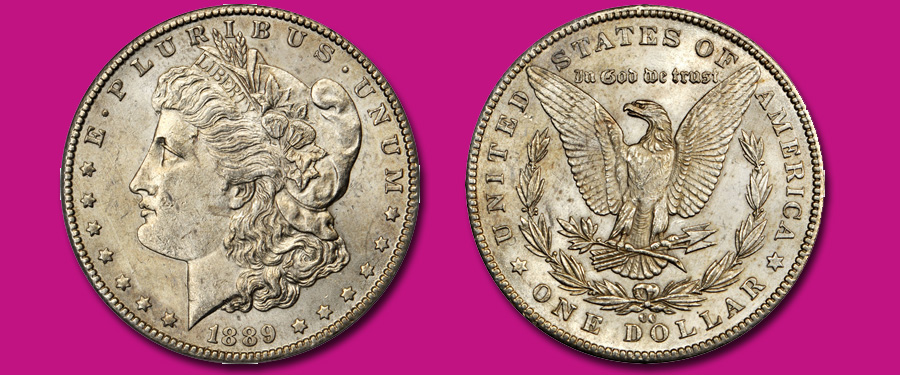 1899-CC Morgan dollar MS62 PCGS. Images courtesy Stack's Bowers Galleries