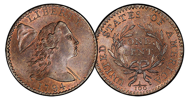 1794 cent in Mint State