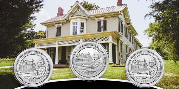 United States 2017 Frederick Douglass National Historical Site America the Beautiful Quarters 3-coin set