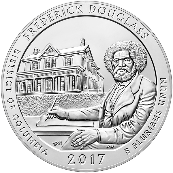 United States 2017 America the Beautiful - Frederick Douglass National Historic Site Quarter. Image courtesy US Mint