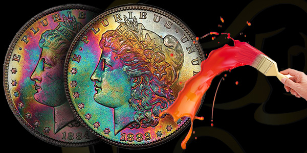 Morgan Toned Dollars from Legend Rare Coin Auctions