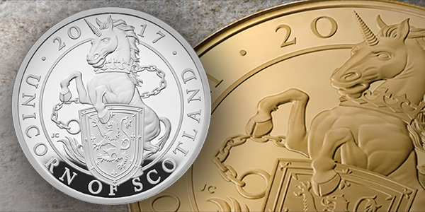 Queen's Beasts - Unicorn of Scotland. Coin images courtesy The Royal Mint