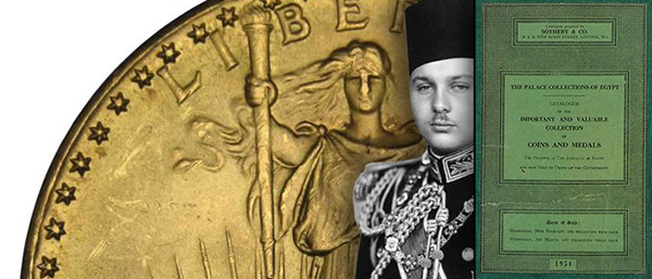 King Farouk, 1933 Double Eagle, Sotheby Catalog