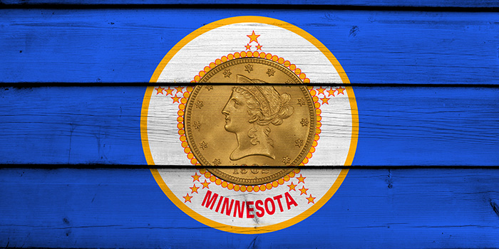 Minnesota Seal with Counterfeit Coins in Center