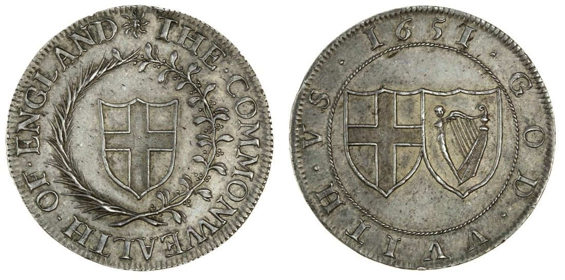Commonwealth (1649-60), pattern Halfcrown of 1651. Images courtesy Spink Auctions