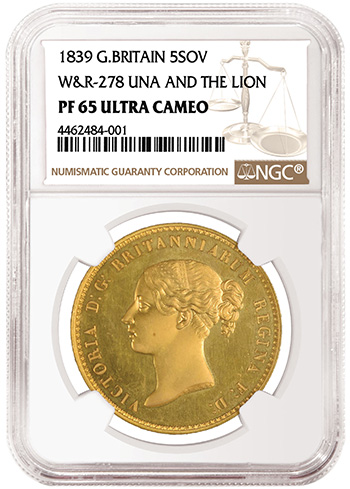 1839 Una 5 Sovereign