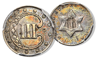 1851-O Three Cent Silver