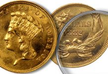 Counterfeit Coin Detection - 1882 $3 US Gold Coin