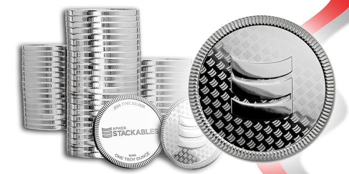 APMEX Stackables Silver Rounds