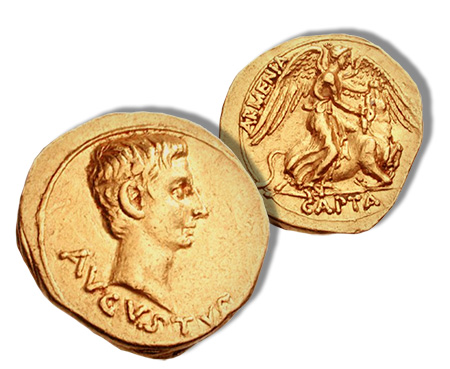 Armenia Capta Gold Aureus