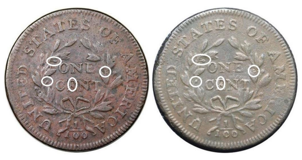"1797 ""S-136"" Large Cent discovery examples"