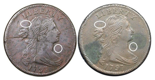 "First and second examples, 1797 ""S-136"" Large Cent"