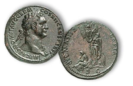 Domitian, Germania Capta AE Setertius