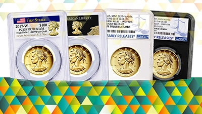 2017 Gold High Relief Labels