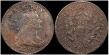 "March 2017 1797 ""S-136"" Large Cent internet example owned by author, Jack D. Young"