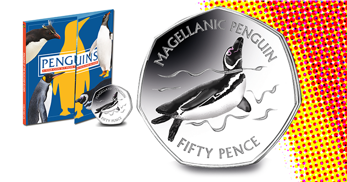 Penguins Fifty Pence Magellanic Penguin