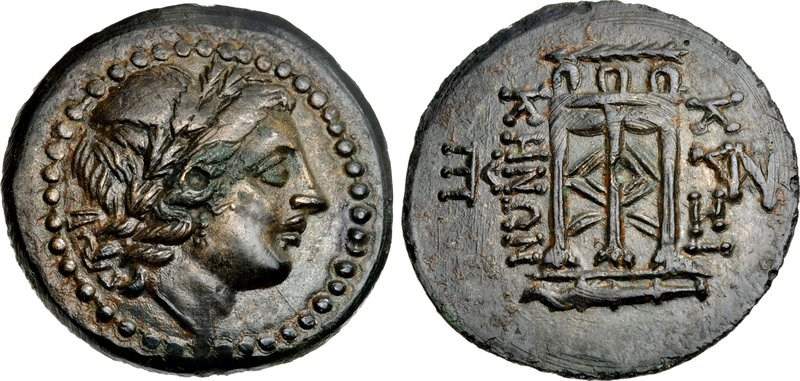 Bronze of Cyzicus in Mysia, 2nd through 1st Centuries BCE. Images courtesy of Classical Numismatic Group (CNG), NGC