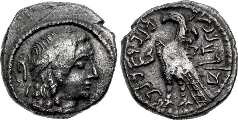 Nabataean drachm of King Malichus I, dated year 28 (33/2 BCE). Images courtesy CNG, NGC