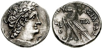 Double-dated tetradrachm of Cleopatra III and Ptolemy X. Images courtesy CNG, NGC