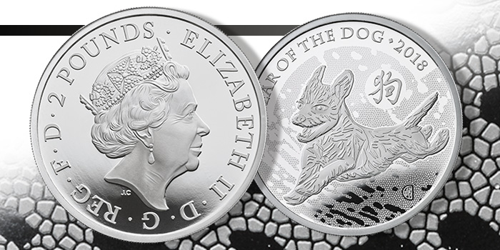 2018 2 Pounds Year of the Dog - Royal Mint