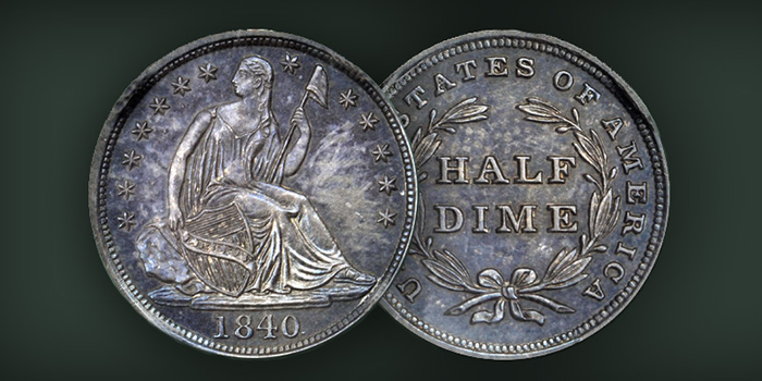 1840 Half Dime Stack's Bowers