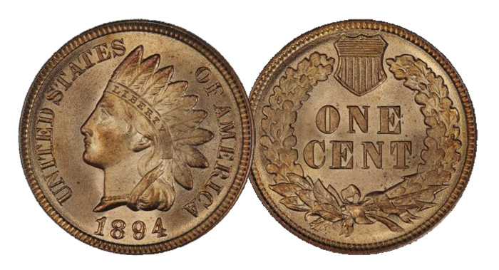 1894 Indian Cent - Legend Numismatics