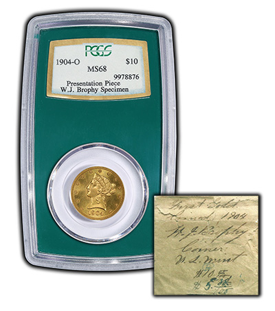 PCGS MS68 1904-O Prestige Holder and Envelope