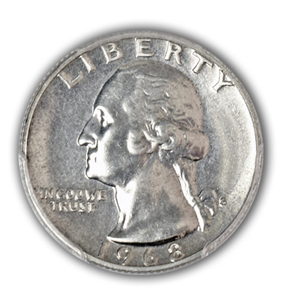 1968-S .900 Silver Quarter Proof