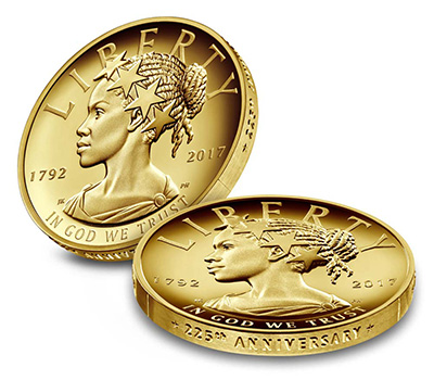 2017 225th Anniversary $100 Gold Coin United States Mint