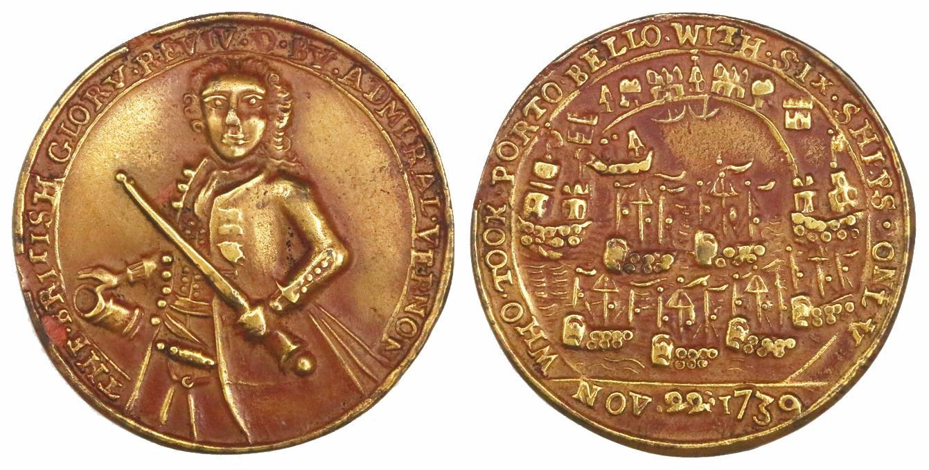 Admiral Vernon medals 1739, 1741. Images courtesy Daniel Frank Sedwick, LLC
