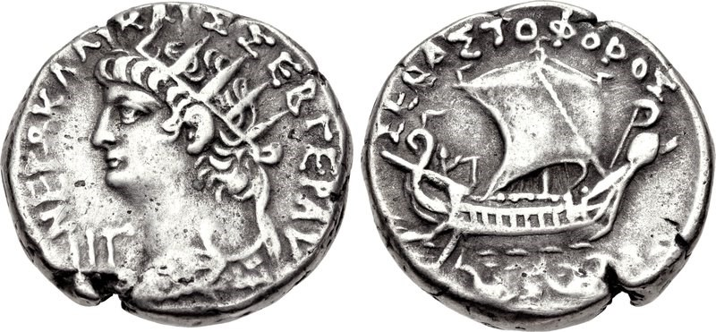 Billon tetradrachm of Nero from Alexandria, Egypt. Images courtesy CNG, Nomos