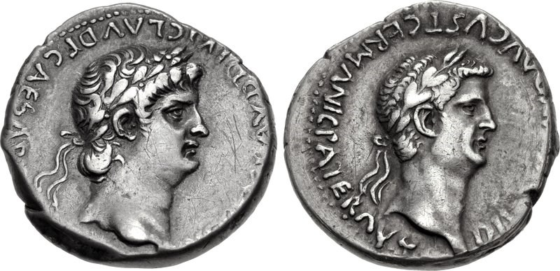 Nero and Divus Claudius. Images courtesy CNG, Nomos