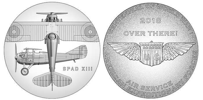 World War I Centennial Air Service Medal - Denver Mint