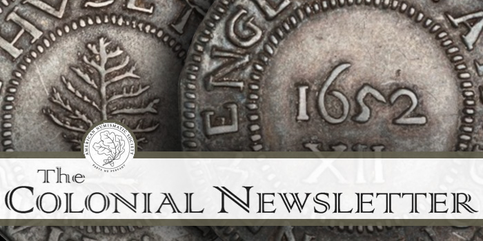 ANS Colonial Newsletter American Numismatic Society