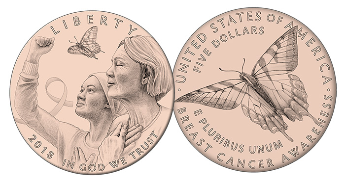 Breast Cancer Awareness Pink Gold Commemorative Coin