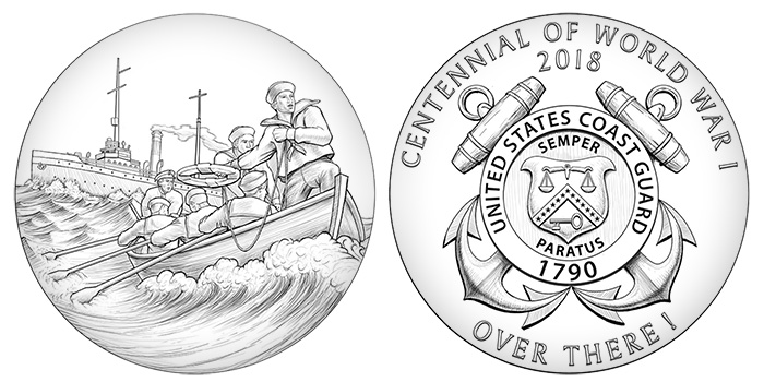 World War I Centennial Coast Guard Medal - Philadelphia Mint