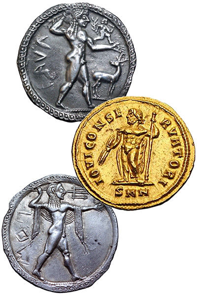 Heroic Nudity on Ancient Coins - Ancient Greece