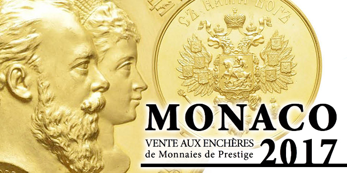 Monaco 2017 Editions V. Gadoury World Coin Auction