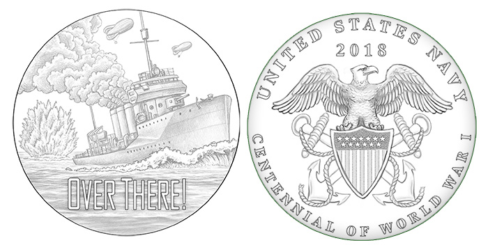 United States Navy 2018 World War I Centennial Medal Design