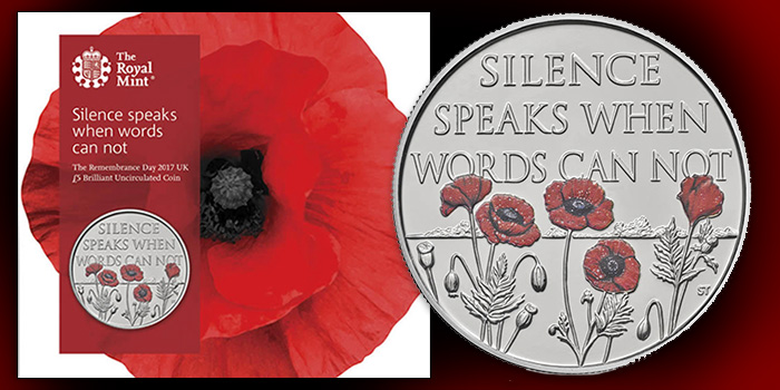 Royal Mint 2017 Remembrance Day Brilliant Uncirculated Coin