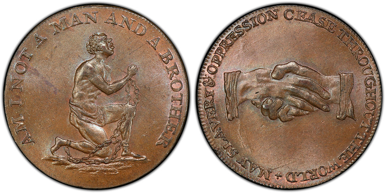 GREAT BRITAIN. Middlesex. 1790s (ND) CU Halfpenny Token, Political and Social series. Images courtesy Atlas Numismatics