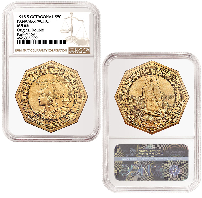 1915-S Octagonal $50 Panama-Pacific NGC MS65