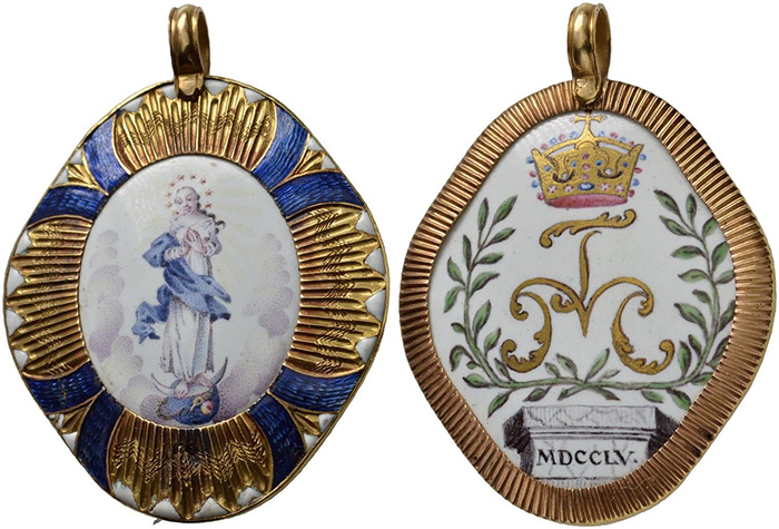 ((333 – The Theresianian Noble Chapter at Prague. Maria Theresa, 1740-1780. Order sign 1755. Gold with enamel. Extremely rare. Extremely fine showpiece. Estimate: 10,000 euros. Starting price: 6,000 euros.))