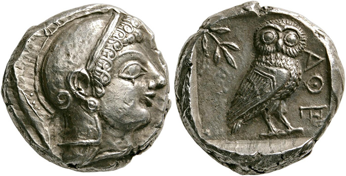 ((57 – Athens (Attica). Tetradrachm, 510-500/490. Very rare. Fully centered. Extremely fine. Estimate: 10,000 euros. Starting price: 6,000 euros.))