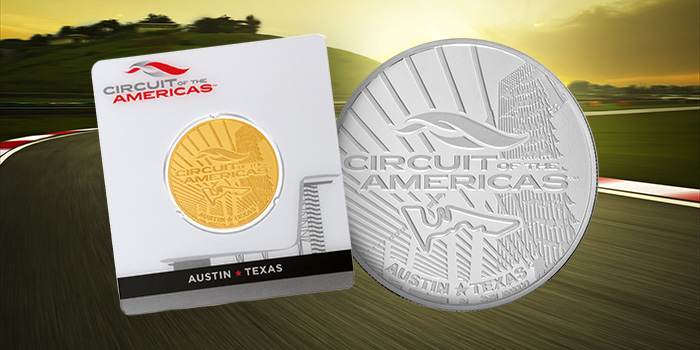 Rosland Capital - Circuit of the Americas Gold and Silver Coin