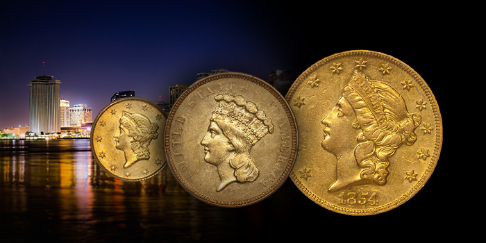 Doug Winter New Orleans Gold Coins