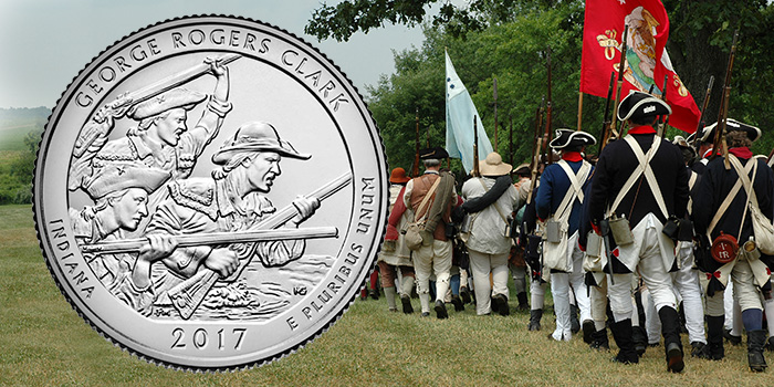 George Rogers Clark, Indiana America the Beautiful Quarter