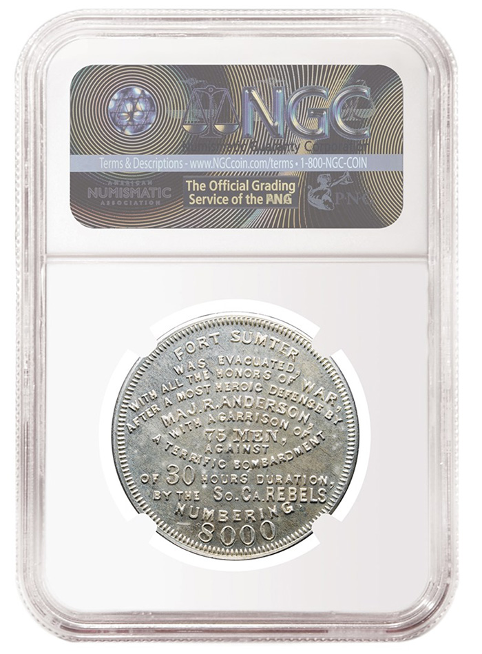 NGC Fort Sumter So Called Dollar Silver Reverse
