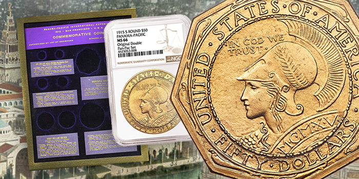 Panama-Pacific Exposition Double Commemorative Coin Set NGC
